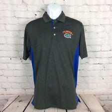 New listing Champion NCAA Florida Gators Men's Golf Polo Shirt Size M Gray/Blue Tailgating
