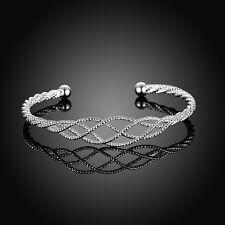 Cuff Bracelet Bangle Jewelry Xmas Gift Stylish Charm Women Hollow Silver Plated