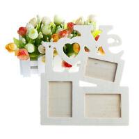 diy hueco romántico amor arte montaje de pared marco de fotos de maderaSC