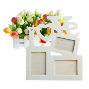 DIY romantic hollow love art wall mounted wooden photo frame picture home d wk