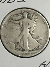 1918-S Walking Liberty Half Dollar in about G/VG Condition