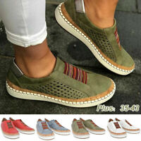 Women Breathable Flat Shoes Moccasins Leather Loafers Slip On Casual Dress Shoes