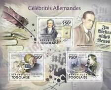 Togo - German Celebrità Goethe Nietsche - 3 Francobollo Foglio