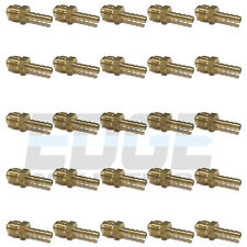 (25 PACK) 1/4 HOSE ID TO 3/8 45° MALE FLARE STRAIGHT BRASS FITTING FUEL/AIR/WOG