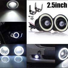 "2pcs 2.5"" Angel Eye White COB Halo Ring LED Projector Car SUV Fog Daytime Light"
