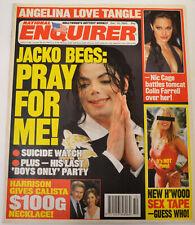 NATIONAL ENQUIRER DEC 2003 MICHAEL JACKSON SUICIDE WATCH ANGELINA JOL