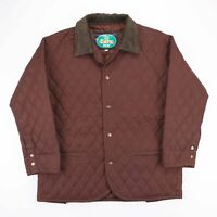 Vintage EASY BY NAZARENO GABRIELLI Brown Diamond Quilted Jacket Size Mens XL