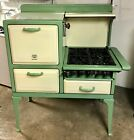 Antique Kitchen High Oven Stove Vintage Gas Green & Yellow Excellent Condition