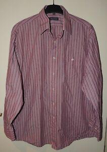 langärmliges Herren Hemd Rosa gestreift Gr. XL 43/44 Authentic