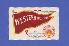 c1910s T331 Fatima Cigarettes stamp Western Reserve University Tough issue!