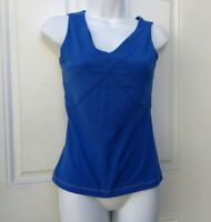 Lululemon Athletica Blue Nylon Blend Athletic Deep V Tank Top Size 8