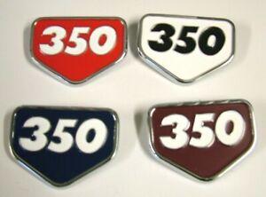 350 Side Cover Badge fr HONDA CB350 K1 K2 KO WHITE BLUE BURGUNDY RED Emblem HS33