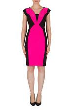 Joseph Ribkoff Black and Pink Panel Cocktail Dress Size UK 12 RRP £235