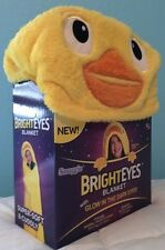 NWT SNUGGIE gift As Seen on TV kids yellow DUCK GLOW EYE BLANKET Baby Shower