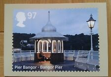 ROYAL MAIL 2014 SEASIDE ARCHITECTURE BANGOR PIER PHQ POST CARD MINT