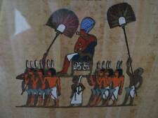 EGYPTIAN PAPYRUS Painting Art Professionally Framed Vintage