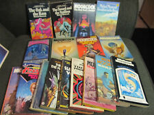 18 book lot michael moorcock elric time of the hawklords eternal champion rare!!