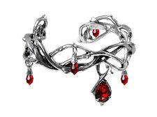 Pulsera de la pasión-Alchemy Gothic espinas/gotas de sangre joyas A80