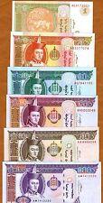 SET, Mongolia, 1;5;10;2;50;100, 2000-2011, P-61A;61B;62;63;64;65 UNC