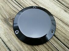 Black 3 Hole Derby Cover Big Twin Harley Davidson 1970 to 1999