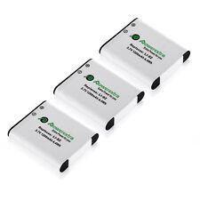 3 Pack 1200mAh Replacement Battery Pack For Pentax D-Li92 D-L192 DLi92 DL192
