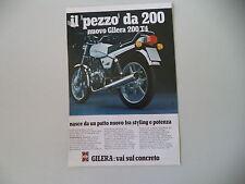advertising Pubblicità 1979 MOTO GILERA 200 T4