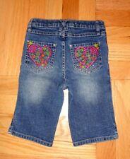6 Year Old Girl Stretch Denim Capri Jeans, Cttn Blend, Prfct Condition Size 6