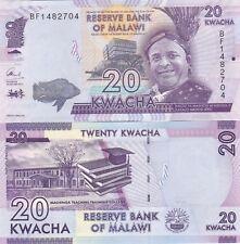 MALAWI.2016,20 KWACHA.P-57,.UNC BANKNOTES, (D)