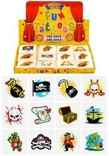 Pirate Temporary Tattoos Pack of 72 - Great Party Loot Bag Fillers
