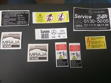 Mercedes Benz E C class CL W202 W203 W210 W140 restoration engine bay stickers