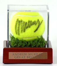 Tennis / Cricket Ball acrylic display case with bespoke plaque & Astro turf base