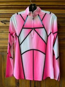 NWT Jamie Sadock Golf  Sunsense Long Sleeve Shirt Top Size XS Color Pink NEW
