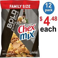 Chex Mix SAVORY Bold Party Blend Snack Mix with 60% less fat, 15 oz (PACK of 12)