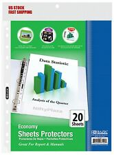 Economy Weight Top Loading Sheet Protectors 20pack Holds 85 X 11 Paper