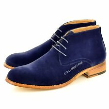 Men's Leather Lined Casual / Formal Desert Ankle Chelsea Boots UK Sizes 7-12