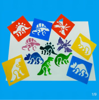 New 6 PCS Washable Dinosaur Stencils For Children Art painting Design Crafts UK