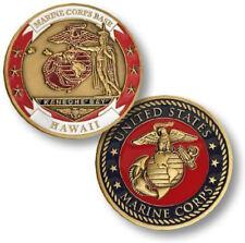 NEW USMC U.S. Marine Corps Base Kaneohe Bay Hawaii Challenge Coin.
