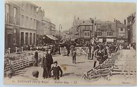 .ISLE OF WIGHT. RARE EARLY 1900s POSTCARD. NEWPORT MARKET DAY NO 11 LL SERIES