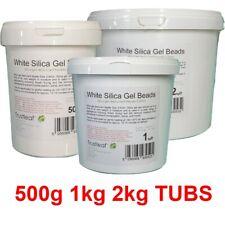 More details for white silica gel desiccant 2-5mm beads - 500g 1kg 2kg tubs - flower drying