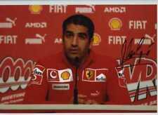 Marc Gene Ferrari F1 Test Driver Retrato Firmado fotografía 2