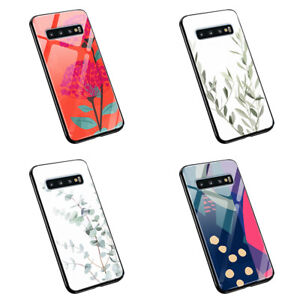 Flowers Art Floret Green Abstract  M112   tempered glass silicone phone case