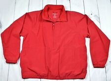 Eddie Bauer Pullover Windbreaker Red Jacket Nylon Men Size XL