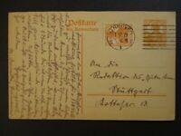 1919 Hannover Stuttgart Germany Postcard Cover