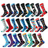 Mens Combed Cotton Socks Novelty Animal Cartoon Funny Casual Dress Sock FOR Gift