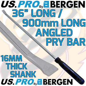 """US PRO Pry Bar 36"""" Extra Long Angled Hammer Through HEAVY DUTY JEMMY CROW PRY HD"""