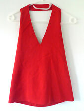 Valentino red halter neck top - Size L