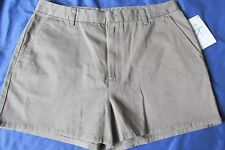 """New with Tags Women's Calvin Klein Beige Khaki Shorts Size 12 """"Easy Chino Short"""""""