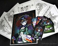 Fairy Art Adult Coloring Fantasy Steampunk Rockabilly Myka Trading Card Set 3