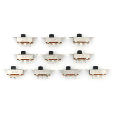 10Pcs 2 Position DPDT 2P2T Panel Mount Vertical Slide Switch 3A 125V 6A 250V C!C