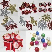 Hanging Christmas Tree Decoration Gloves Baubles Glitter Stars Angels Candy Xmas